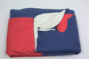 Martha's Vineyard Fleece Blanket - Red on Navy - SummerTies