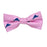 Martha's Vineyard Bow Tie - Navy on Pink, Printed Silk, Pre-Tied for Kids - SummerTies