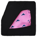 Martha's Vineyard Pocket Square - Navy on Pink - SummerTies