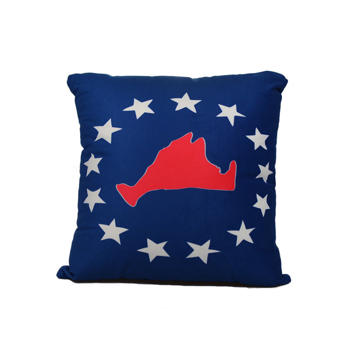 "Martha's Vineyard 4th of July Pillow 16"" x 16"" - Faux Suede - SummerTies"
