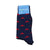 Martha's Vineyard Socks - Men's Mid Calf Long - Red on Navy