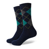 Argyle Socks - Navy, Green, Grey - Men's Mid Calf Short - SummerTies