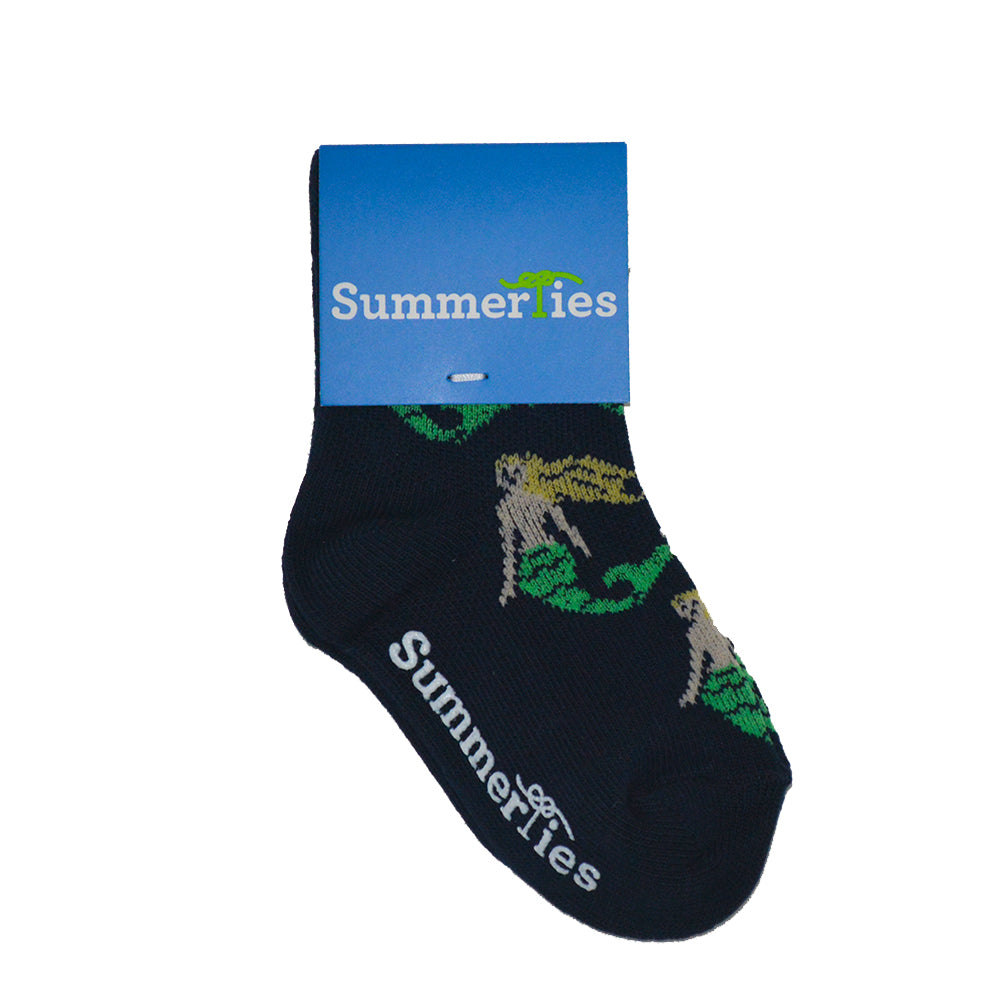 Mermaid Socks - Toddler Crew Sock - Navy - SummerTies