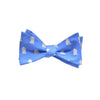 Bear-Lion Bow Tie - Blue, Printed Silk - SummerTies