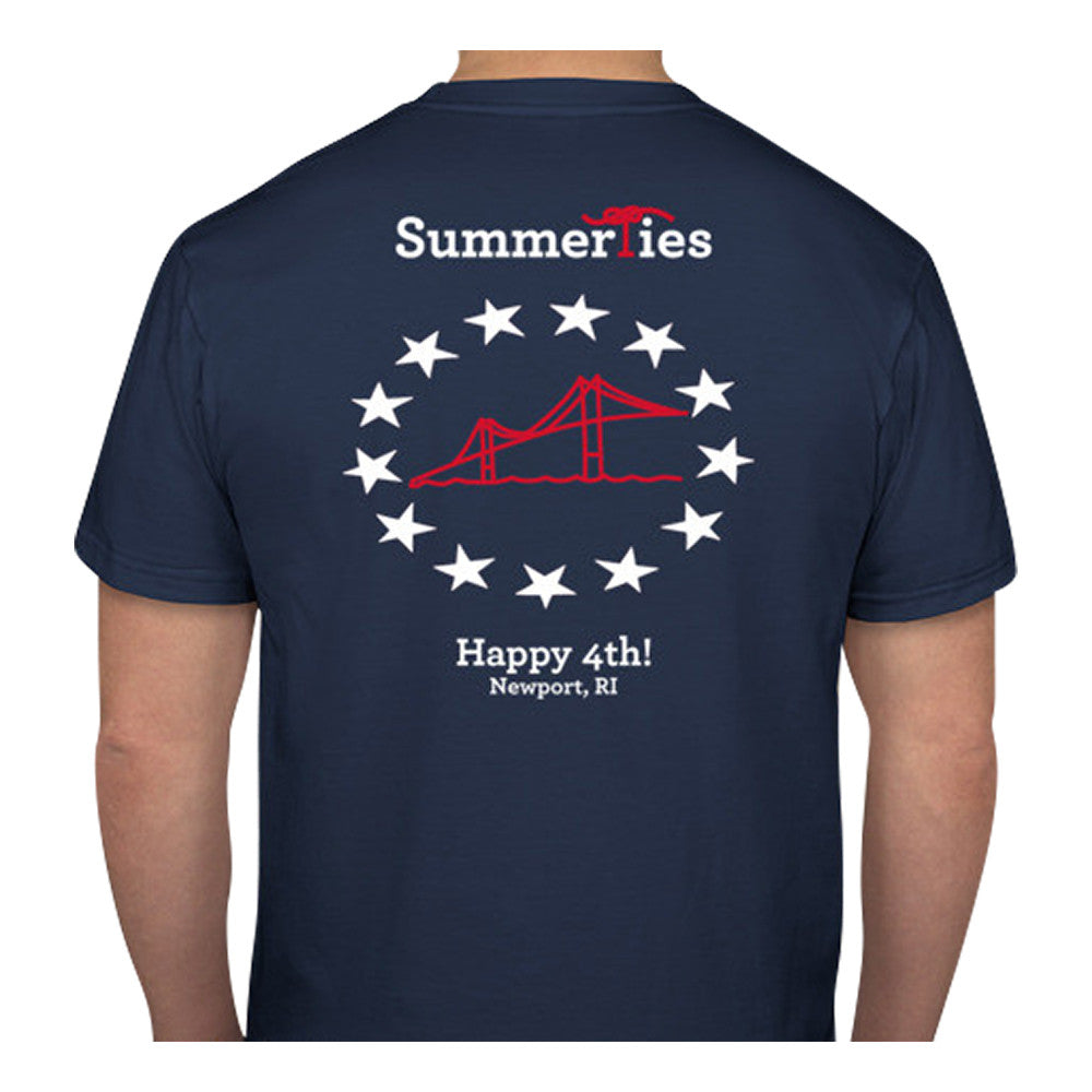 Newport Bridge 4th of July T-Shirt - Short Sleeve - SummerTies