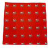 Octopus Pocket Square - Woven, Red - SummerTies  - 2