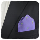 Palm Tree Pocket Square - Purple - SummerTies