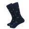 Palm Tree Socks - Men's Mid Calf - Navy - SummerTies