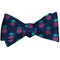 Pineapple Bow Tie - Navy, Woven Silk - SummerTies
