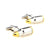 Pointed Tip Bullet Cufflinks - 3D, Silver-Gold