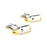 Bullet Cufflinks - 3D, Pointed Tip, Silver-Gold - SummerTies