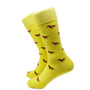Running Horse Socks - Yellow - Men's Mid Calf - SummerTies