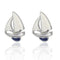 Sailboat Cufflinks - 3D, White, Blue, Silver - SummerTies