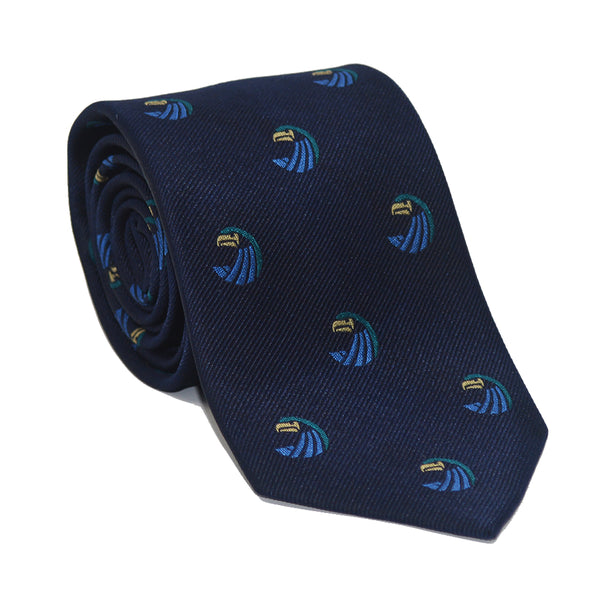 Salve Regina University Necktie - Seahawk Navy, Woven Silk - SummerTies