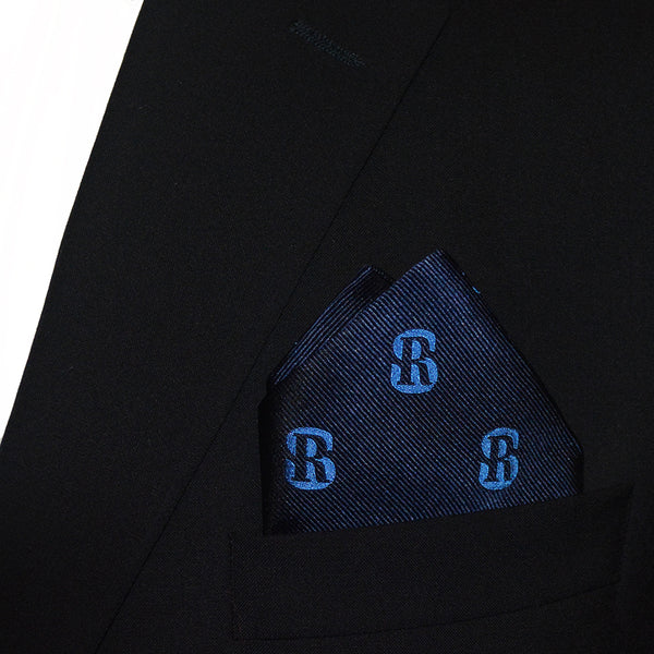 Salve Regina University Pocket Square - SR Navy, Woven Silk - SummerTies