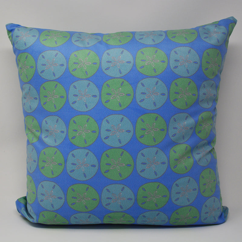 "Sand Dollar Pillow 16"" x 16"" - Faux Suede - SummerTies"
