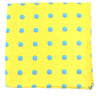 Sea Shell Pocket Square - Blue on Yellow - SummerTies  - 2