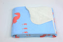 Seahorse Fleece Blanket - Coral on Blue - SummerTies