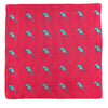 Seahorse Pocket Square - Pink, Woven Silk - SummerTies  - 2