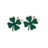 Shamrock Cufflinks - 3D, Green