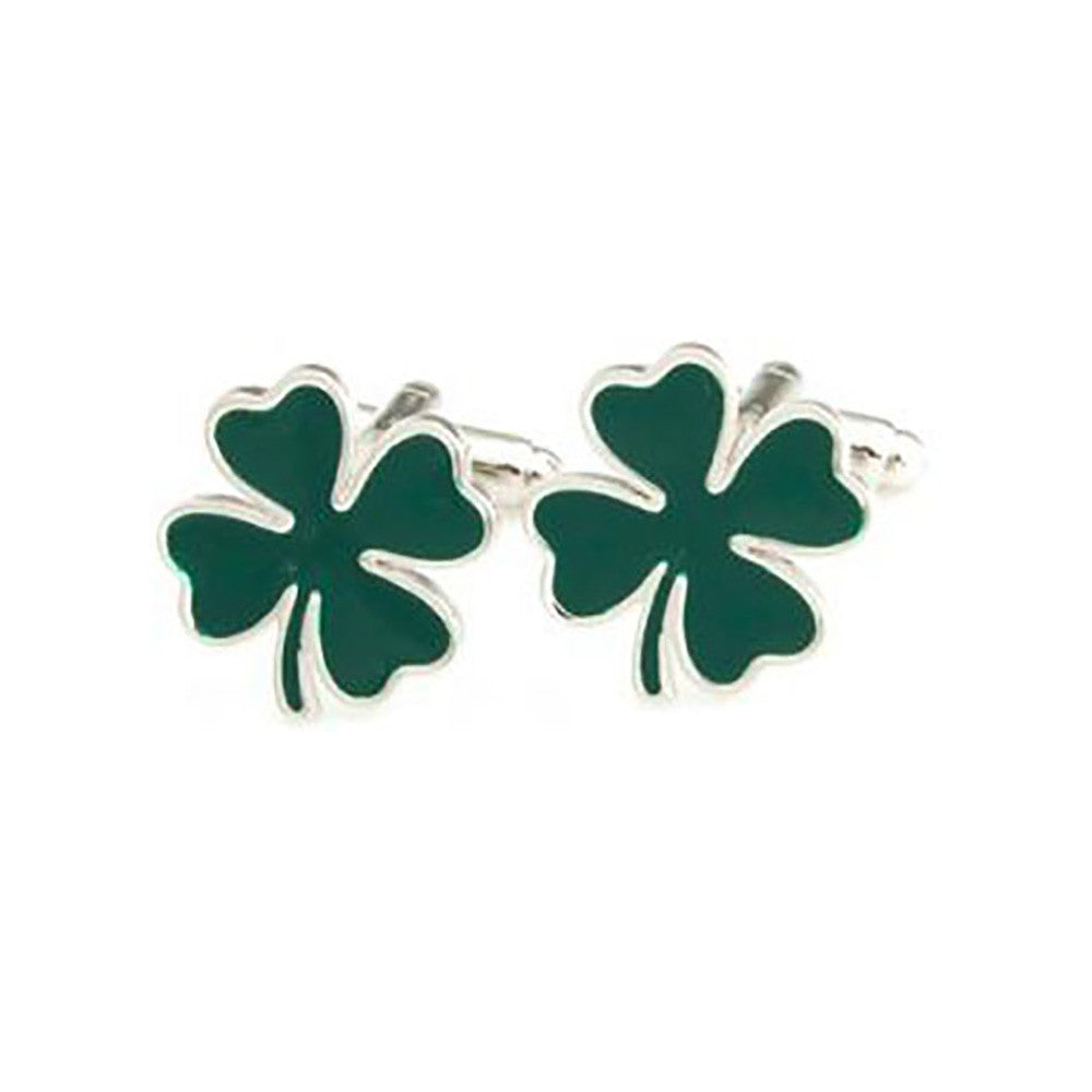 Shamrock Cufflinks - 3D, Green - SummerTies