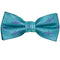Shark Bow Tie - Aqua, Woven Silk, Pre-Tied for Kids - SummerTies