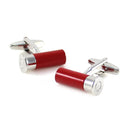 Shutgun Shell Cufflinks - 3D, Red - SummerTies