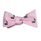 Skunk Bow Tie - Light Pink, Woven Silk