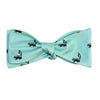 Skunk Bow Tie - Sea Green, Woven Silk