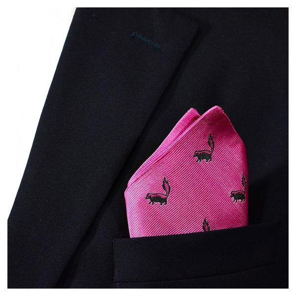 Skunk Pocket Square - Pink - SummerTies