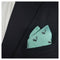 Skunk Pocket Square - Sea Green, Woven Silk - SummerTies