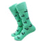 Skunk Socks - Black on Green - Men's Mid Calf - SummerTies