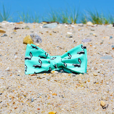 Skunk Bow Tie - Green - SummerTies