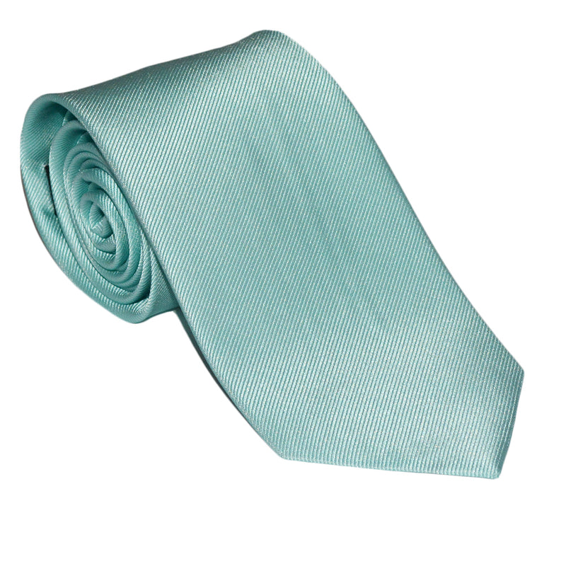Solid Color Necktie - Light Green, Woven Silk - SummerTies