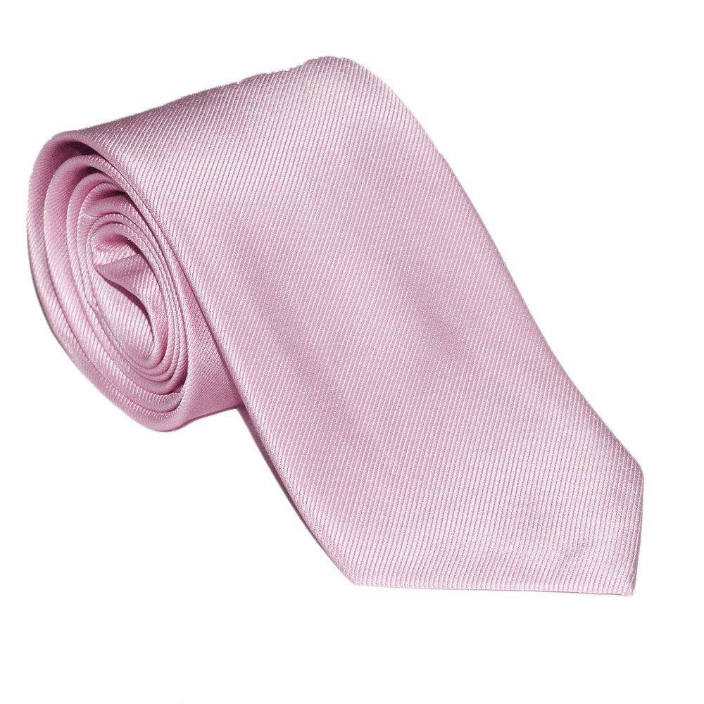 Solid Color Necktie - Pink, Woven Silk - SummerTies