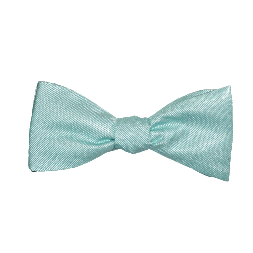 Solid Color Bow Tie - Light Green, Woven Silk, Adult - SummerTies