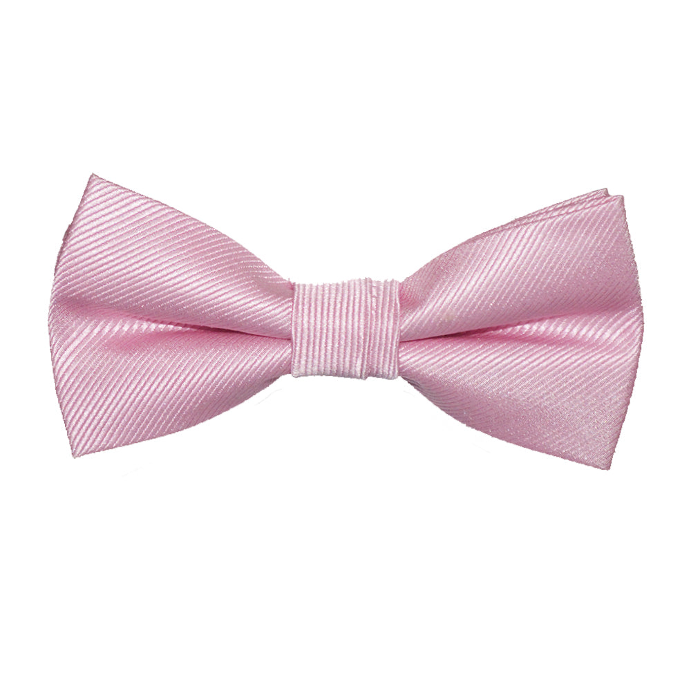 Solid Color Bow Tie - Pink, Woven Silk, Kids Pre-Tied - SummerTies