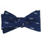 Sperm Whale Bow Tie - Grey on Navy, Woven Silk - SummerTies