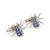 Spider Cufflinks - 3D, Blue