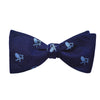 Adirondack Chair Bow Tie - Navy, Woven Silk - SummerTies