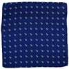 Anchor Pocket Square - Navy - SummerTies  - 2