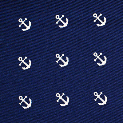 Anchor Pocket Square - Navy - SummerTies  - 3