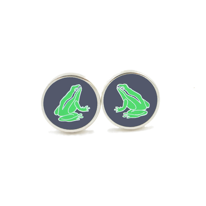 Frog Earrings - Navy - SummerTies