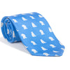 Bear-Lion Necktie - Blue, Printed Silk - SummerTies