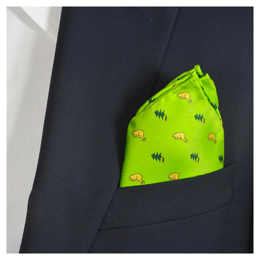 Beaver Pocket Square - Light Beaver - SummerTies
