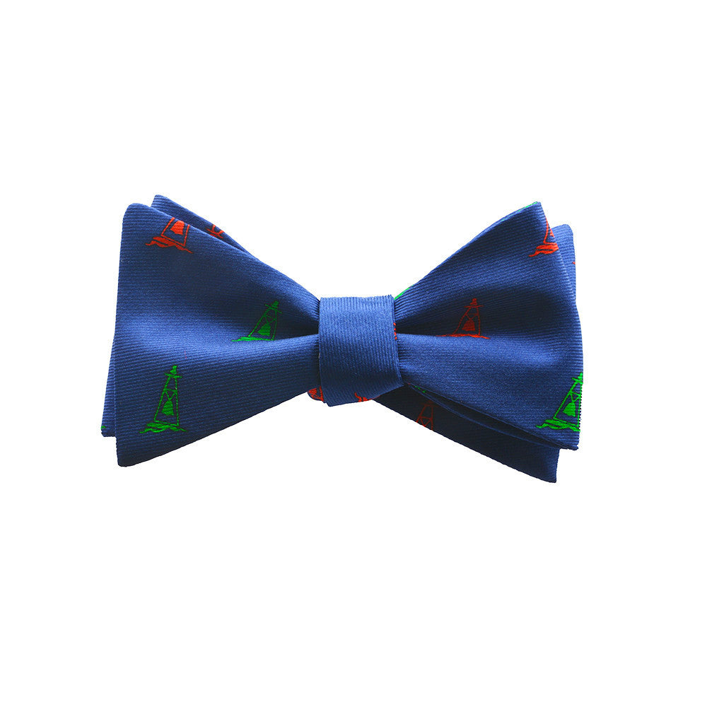 Buoy Bow Tie - Port & Starboard, Printed Silk - SummerTies