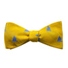 Catboat Bow Tie - Yellow, Woven - SummerTies