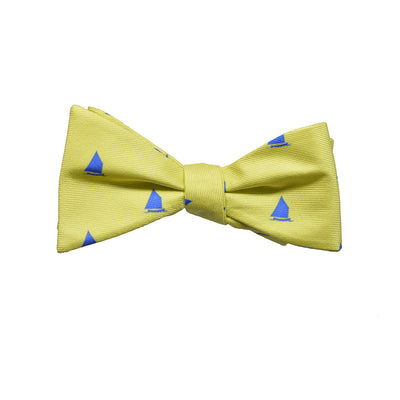 Catboat Bow Tie - Yellow, Printed - SummerTies  - 1