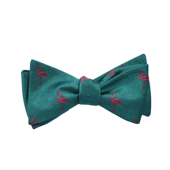 Flamingo Bow Tie - Woven Silk - SummerTies