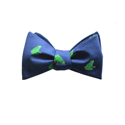 Frog Bow Tie - Navy - SummerTies